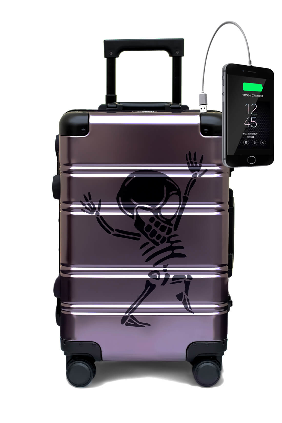 Aluminium Valise Online Cabine Trolley TOKYOTO LUGGAGE Modelle Money Heist 4