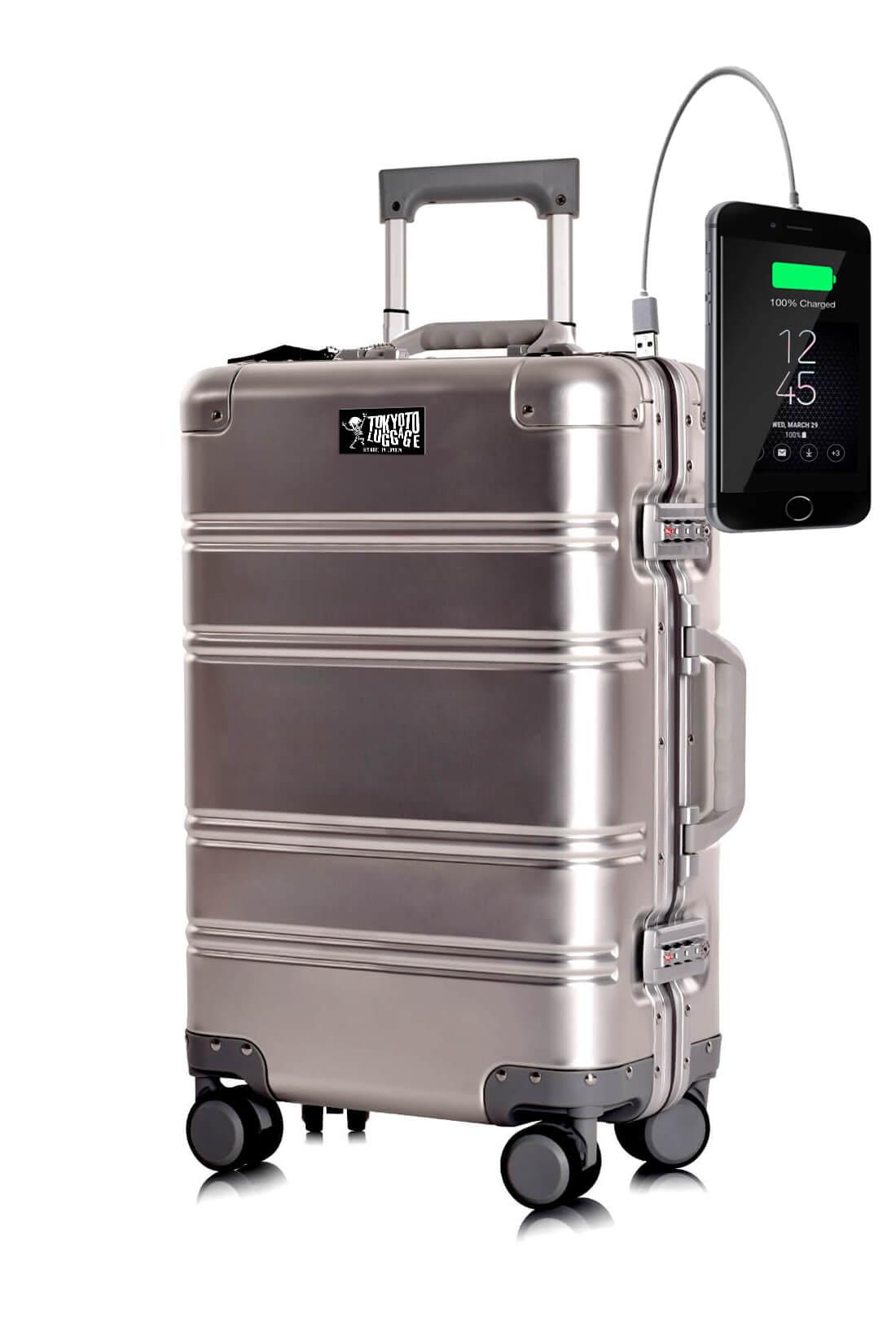 Aluminium Valise Online Cabine Trolley TOKYOTO LUGGAGE Modelle SILVER LOGO 11
