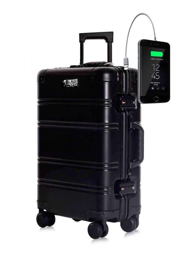 Aluminium Valise Online Cabine Trolley TOKYOTO LUGGAGE Modelle SILVER LOGO 2
