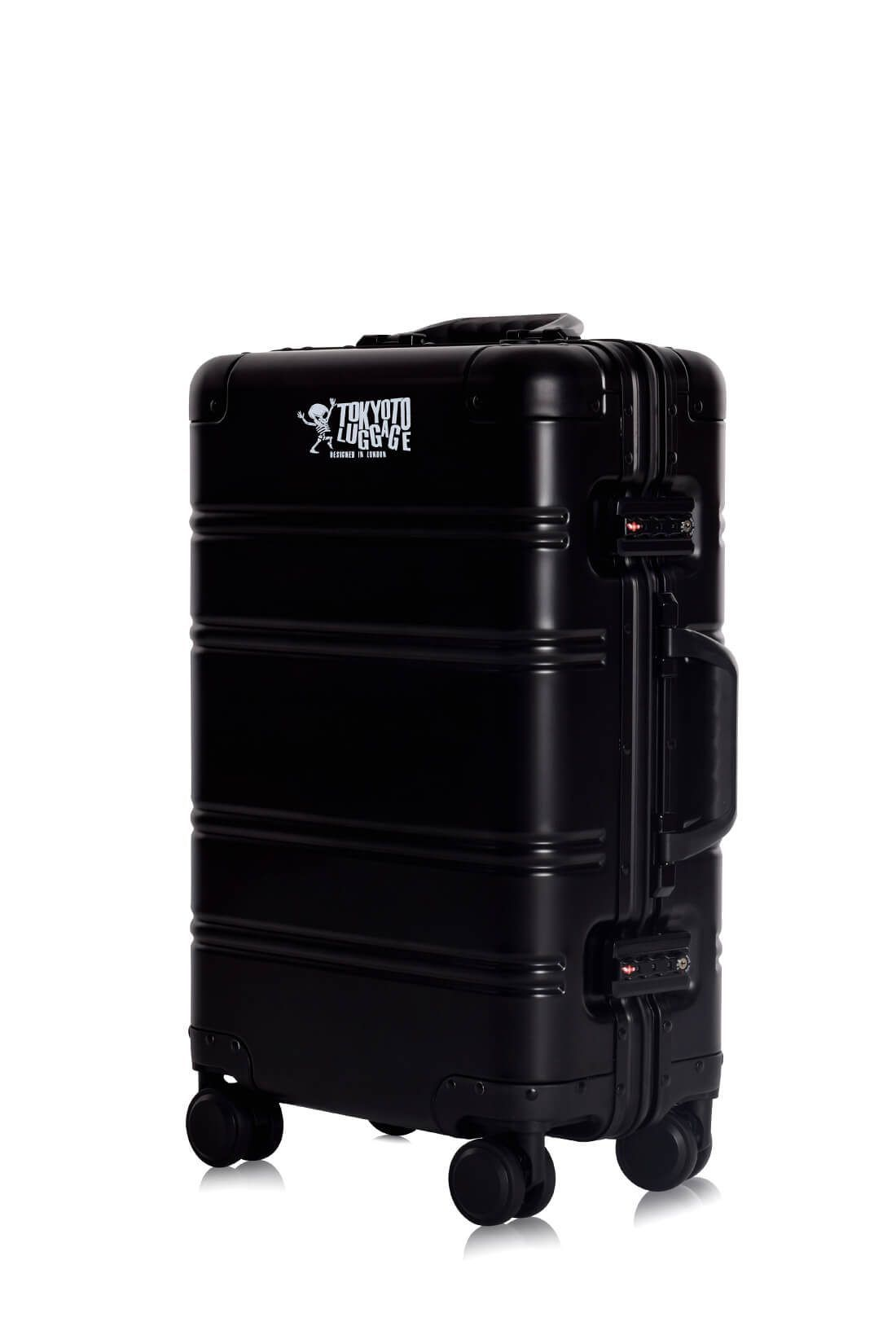 Valise Aluminium Online Cabine Trolley Avec Chargeur Powerbank TOKYOTO LUGGAGE Modelle BLACK LOGO 3