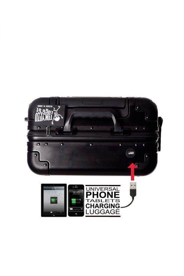 Valise Aluminium Online Cabine Trolley Avec Chargeur Powerbank TOKYOTO LUGGAGE Modelle BLACK SIILVER 5