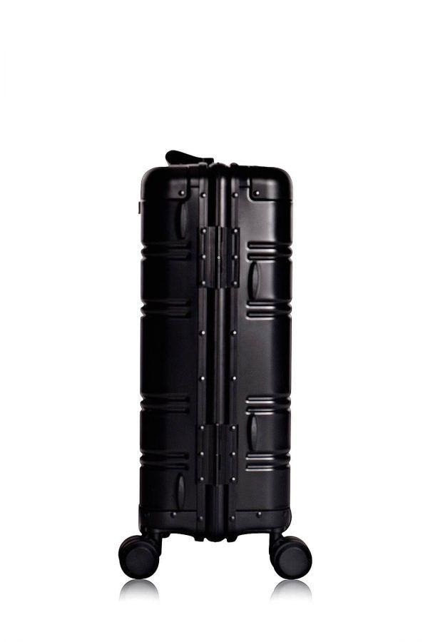 Valise Aluminium Online Cabine Trolley Avec Chargeur Powerbank TOKYOTO LUGGAGE Modelle BLACK SIILVER 8