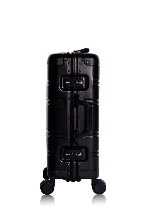 Valise Aluminium Online Cabine Trolley Avec Chargeur Powerbank TOKYOTO LUGGAGE Modelle BLACK SIILVER 9