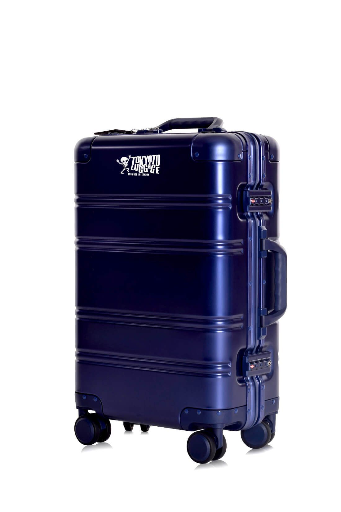 Valise Aluminium Online Cabine Trolley Avec Chargeur Powerbank TOKYOTO LUGGAGE Modelle BLUE LOGO 2