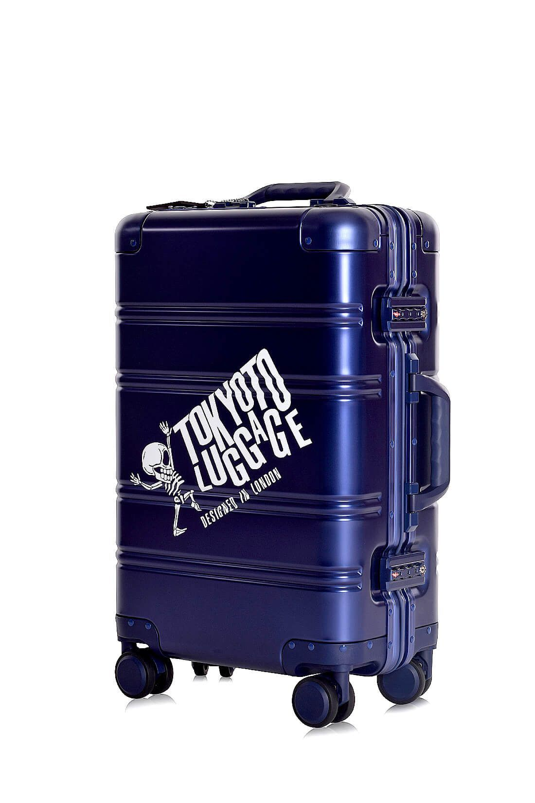 Valise Aluminium Online Cabine Trolley Avec Chargeur Powerbank TOKYOTO LUGGAGE Modelle BLUE LOGO 9