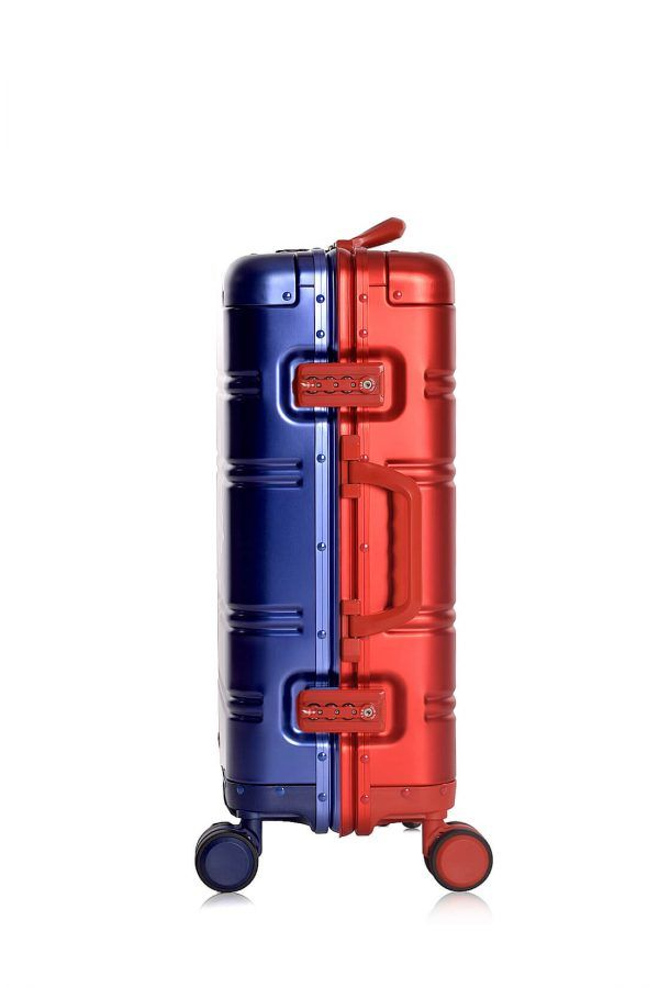 Valise Aluminium Online Cabine Trolley Avec Chargeur Powerbank TOKYOTO LUGGAGE Modelle BLUE RED 3