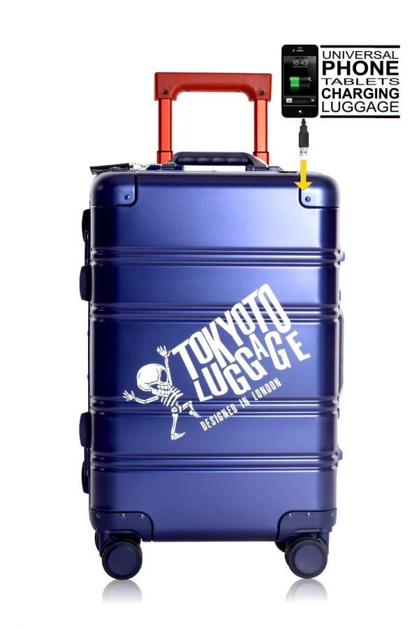 Valise Aluminium Online Cabine Trolley Avec Chargeur Powerbank TOKYOTO LUGGAGE Modelle BLUE RED 6