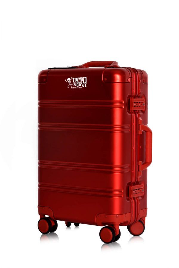 Valise Aluminium Online Cabine Trolley Avec Chargeur Powerbank TOKYOTO LUGGAGE Modelle RED LOGO 1