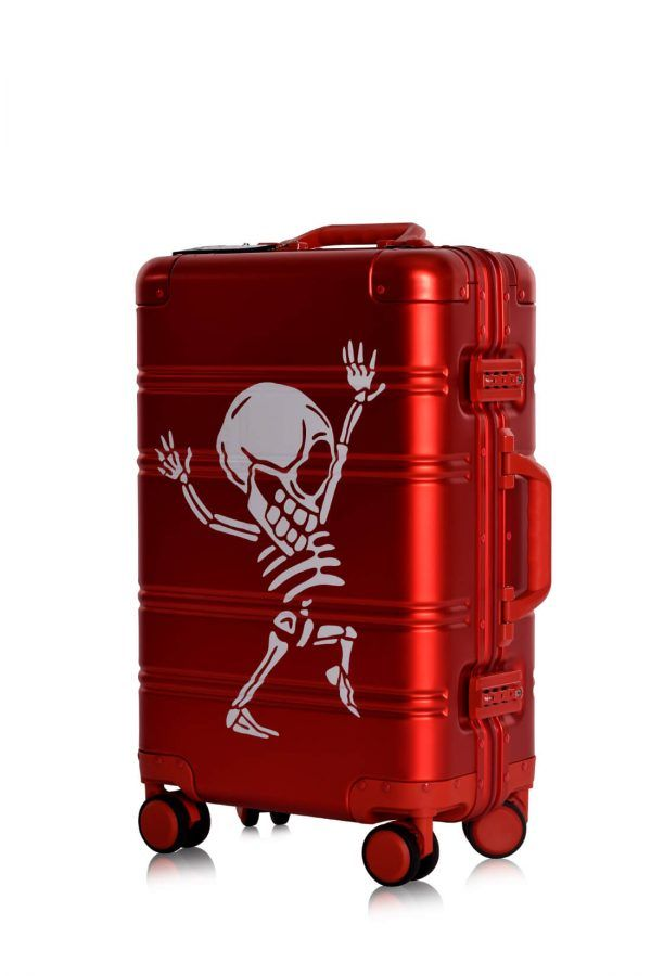 Valise Aluminium Online Cabine Trolley Avec Chargeur Powerbank TOKYOTO LUGGAGE Modelle RED SILVER 3