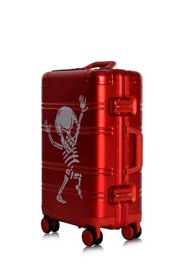 Valise Aluminium Online Cabine Trolley Avec Chargeur Powerbank TOKYOTO LUGGAGE Modelle RED SILVER 5