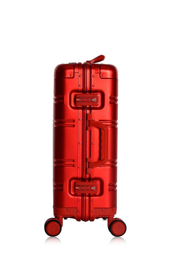 Valise Aluminium Online Cabine Trolley Avec Chargeur Powerbank TOKYOTO LUGGAGE Modelle RED SILVER 8