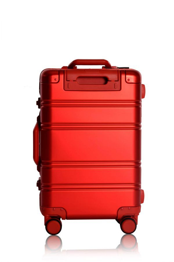 Valise Aluminium Online Cabine Trolley Avec Chargeur Powerbank TOKYOTO LUGGAGE Modelle RED SILVER 9