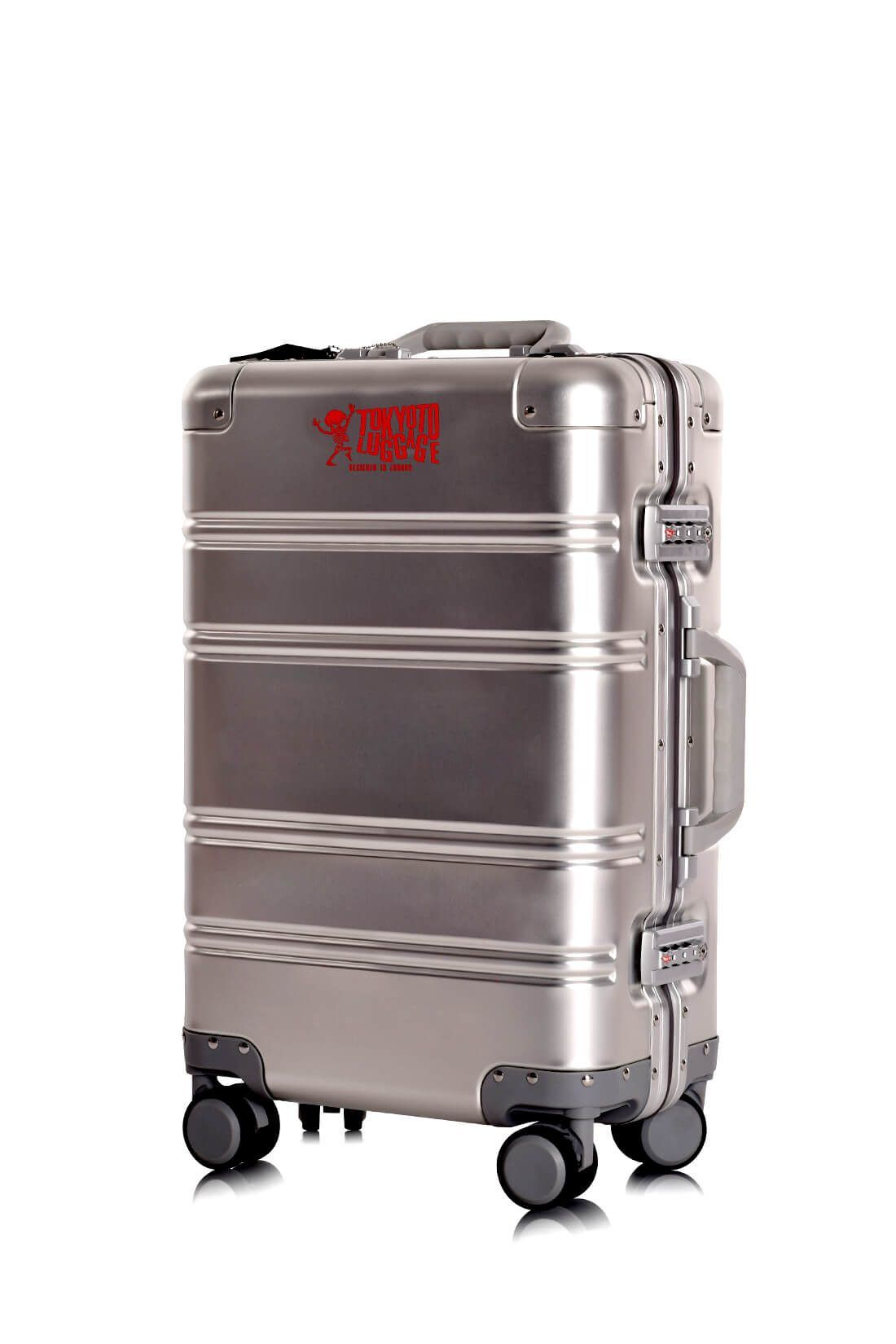 Valise Aluminium Online Cabine Trolley Avec Chargeur Powerbank TOKYOTO LUGGAGE Modelle SILVER LOGO 3