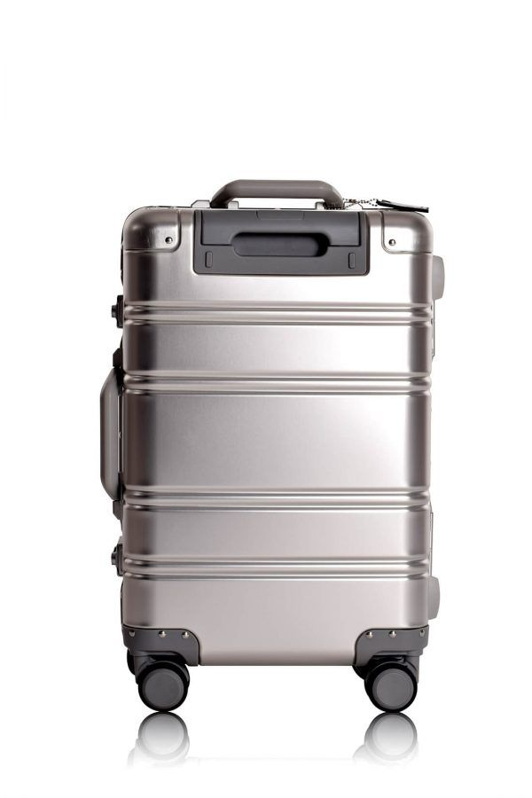 Valise Aluminium Online Cabine Trolley Avec Chargeur Powerbank TOKYOTO LUGGAGE Modelle SILVER SKULL 11