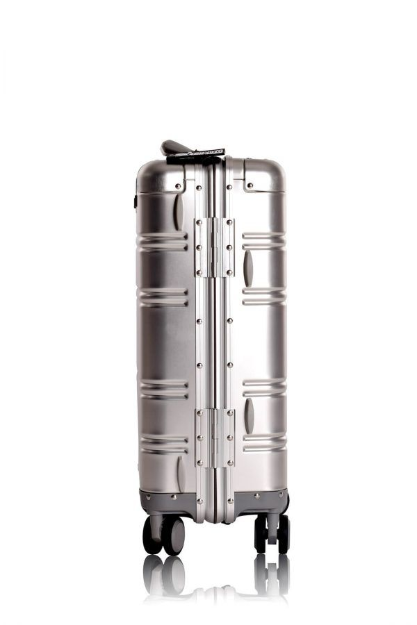 Valise Aluminium Online Cabine Trolley Avec Chargeur Powerbank TOKYOTO LUGGAGE Modelle SILVER SKULL 9