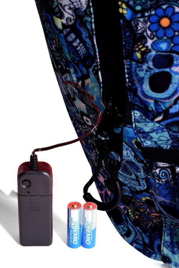 sacs à dos avec lumière led pour la sécurité et la mobilité en vélo de scooter électrique 14