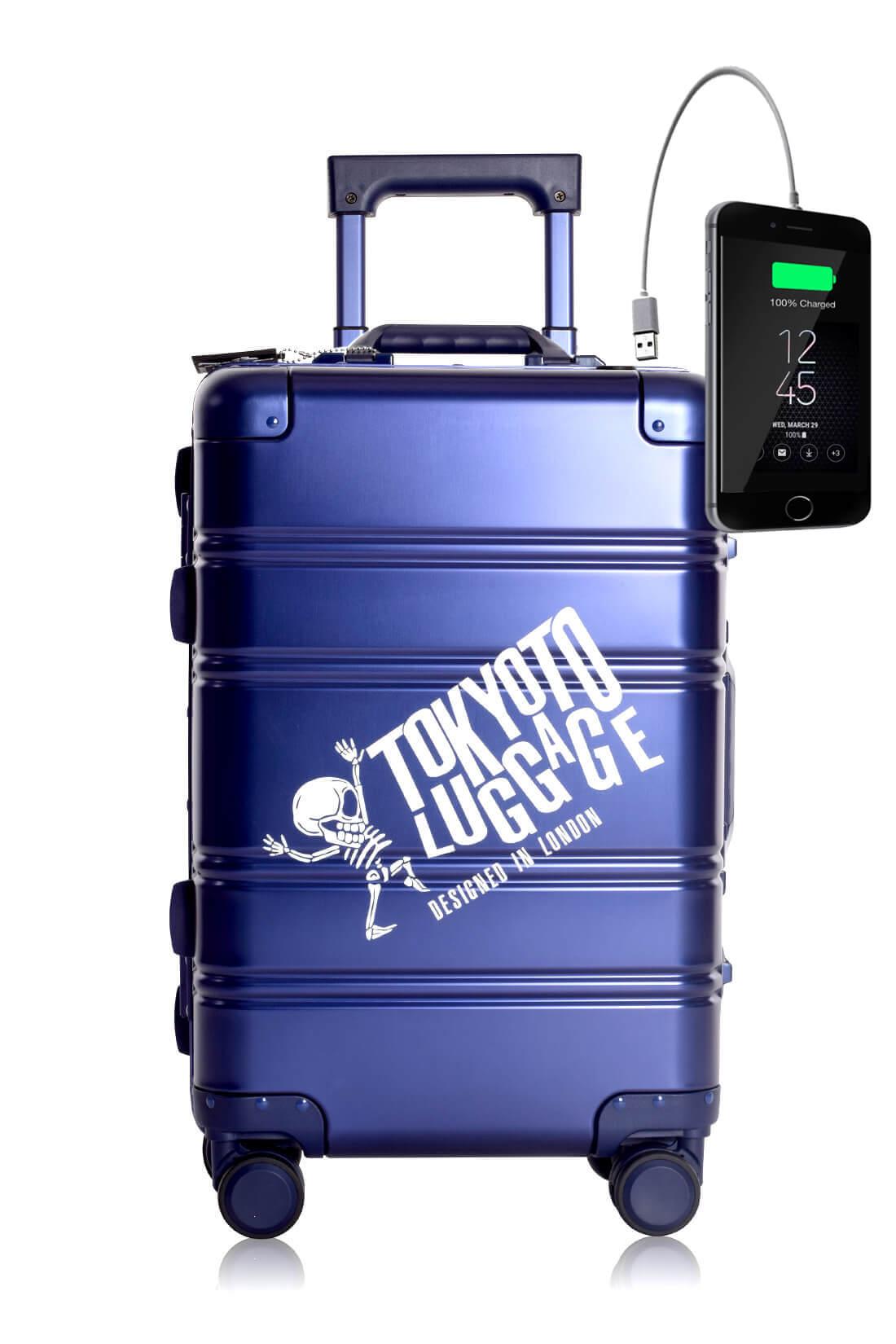 Aluminium Valise Online Cabine Trolley Enfant TOKYOTO LUGGAGE Modelle BLUE LOGO