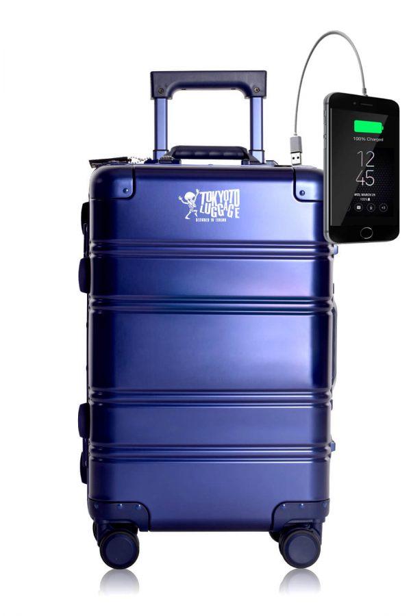 Aluminium Valise Online Cabine Trolley Enfant TOKYOTO LUGGAGE Modelle BLUE SMALL LOGO