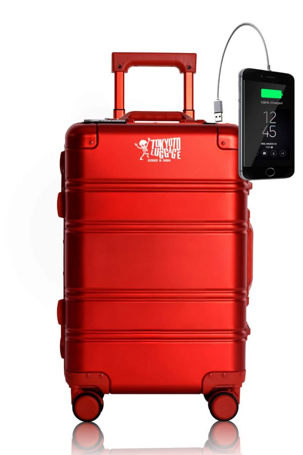 Aluminium Valise Online Cabine Trolley Enfant TOKYOTO LUGGAGE Modelle RED LOGO