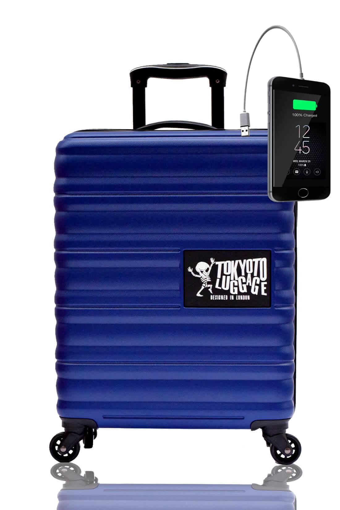 Unicolores Valise Online Cabine Trolley Enfant TOKYOTO LUGGAGE Modelle BLUE MARINE 2
