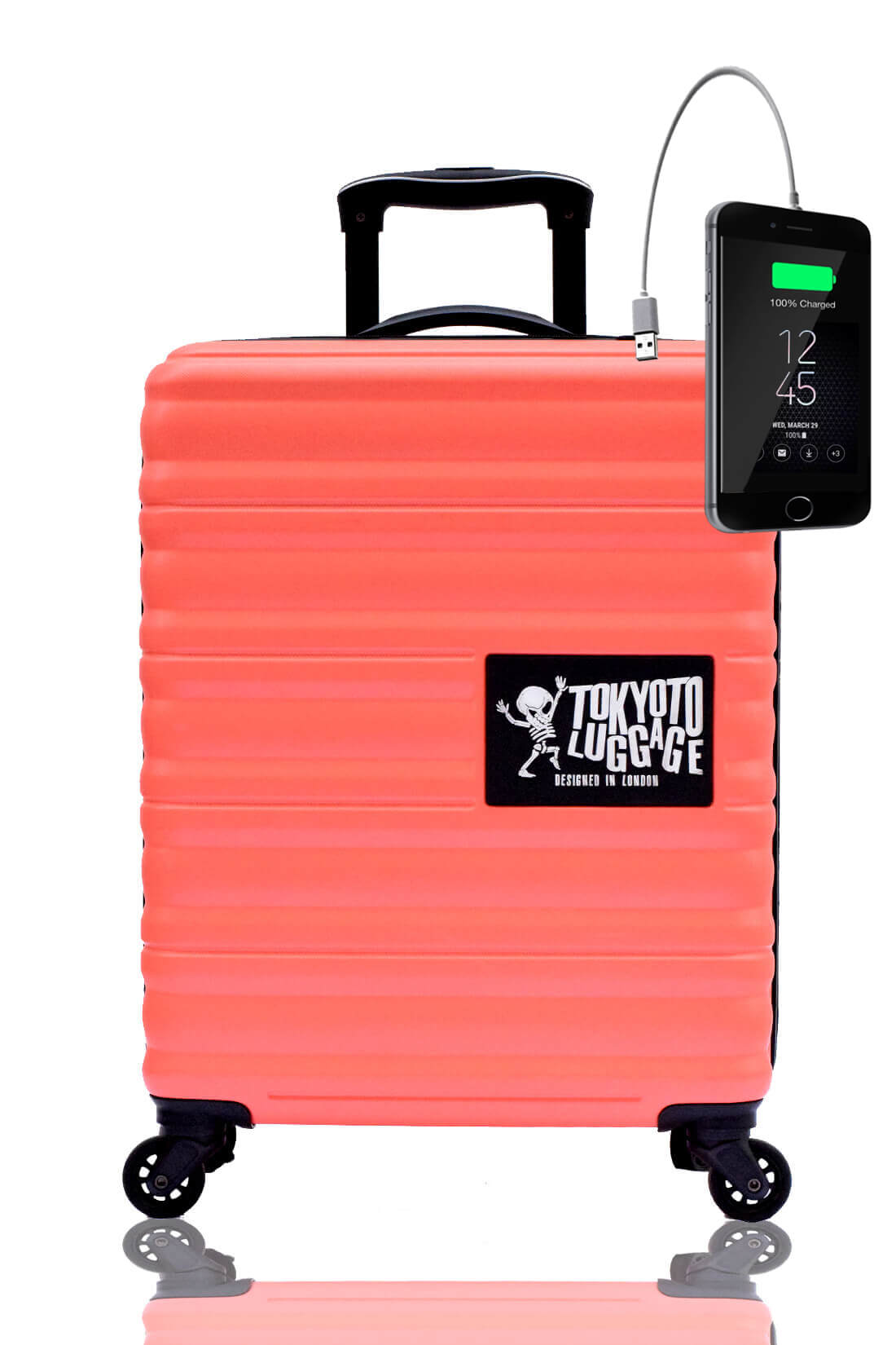 Unicolores Valise Online Cabine Trolley Enfant TOKYOTO LUGGAGE Modelle CORAL 2