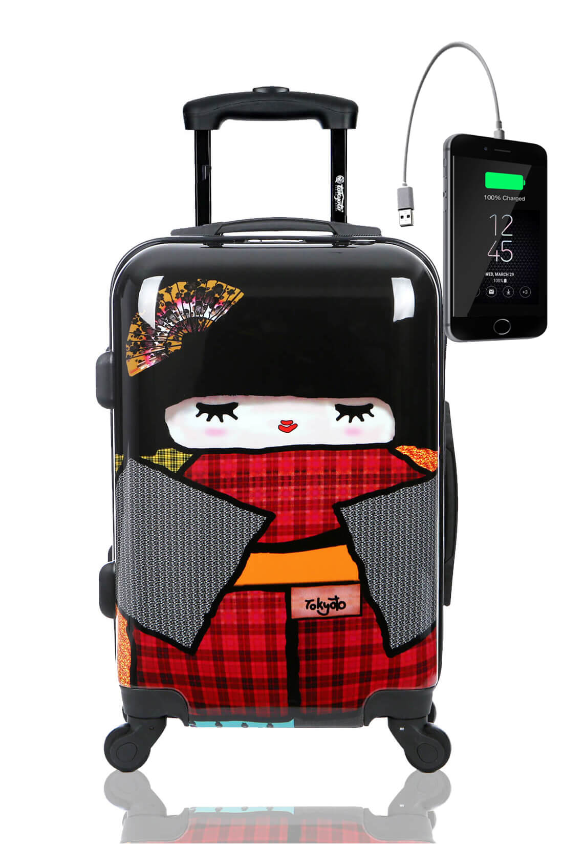 Valise Rigide Online Cabine Trolley Enfant TOKYOTO LUGGAGE Modelle JAPAN DOLL