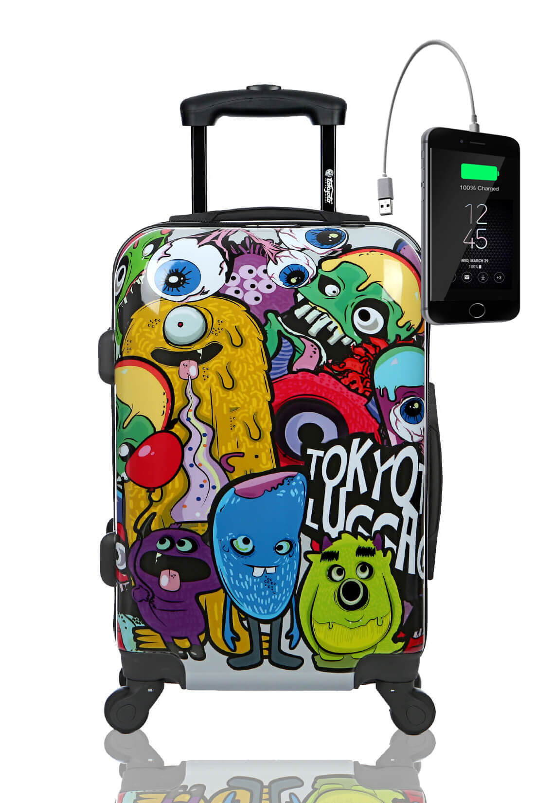 Valise Rigide Online Cabine Trolley Enfant TOKYOTO LUGGAGE Modelle MONSTERS&ZOMBIES