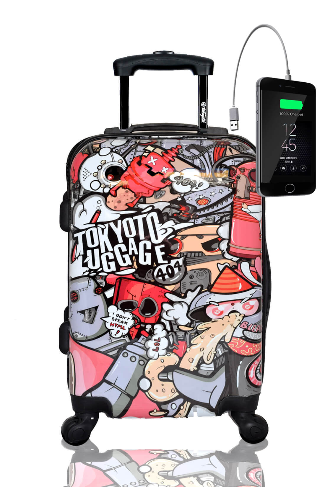 Valise Rigide Online Cabine Trolley Enfant TOKYOTO LUGGAGE Modelle PARTY ROBOTS